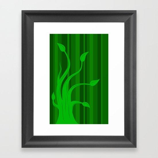green tree 2 Framed Art Print