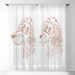 English Setter (White and Brown) Sheer Curtain