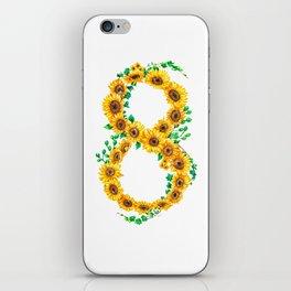 sunflower 8 iPhone Skin