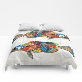 Colorful Grouper Art Fish by Sharon Cummings Comforters