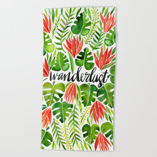 Tropical Wanderlust – Watermelon Palette Beach Towel