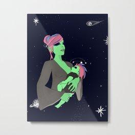 Alien Mama Metal Print