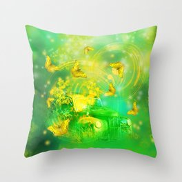 Dream wreck with butterflies Throw Pillow