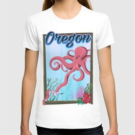 oregon travel poster, T-shirt