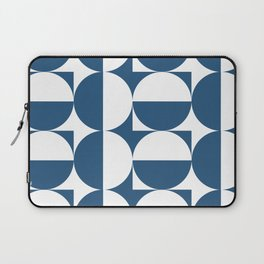 Mid century white and blue Laptop Sleeve