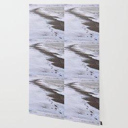 Footprints on the Beach Wallpaper