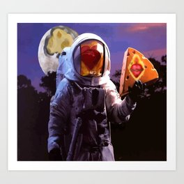 Hearts Are Made of Moons and Cheese Art Print