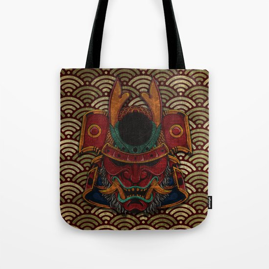 samurai mask Tote Bag
