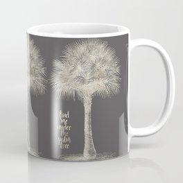 Palm tree - botanical silver illustration Coffee Mug