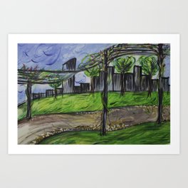 Lunch in the park Art Print