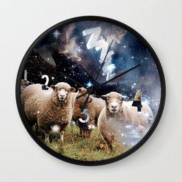 Counting Sheep II Wall Clock