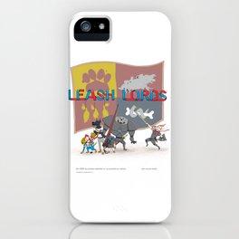 Leash Lords - Saturday morning cartoon iPhone Case