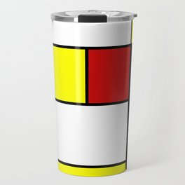 Abstract #378 Mondriaan Travel Mug
