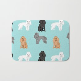 Toy Poodles mixed coat colors dog breed gifts pet portraits must haves poodles Bath Mat