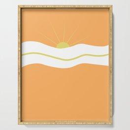 """ Orange days "" Serving Tray"