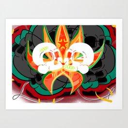 Bud n bones Art Print