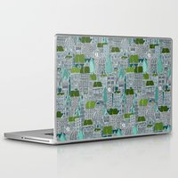 tennis Laptop & iPad Skins featuring rooftop tennis by Sharon Turner