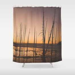 Sunset, Yellowstone National Park Shower Curtain
