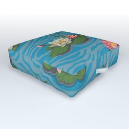 Paint by Numbers Water Lillies Outdoor Floor Cushion