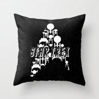 ships Throw Pillows featuring Ships Trek by Ran Doom