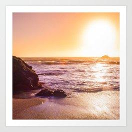Northern California Beach Sunset Art Print