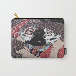 Rockabilly Sugar Skull Carry-All Pouch