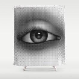 Halftone Eye Shower Curtain