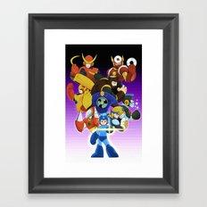 Megaman 2 Framed Art Print