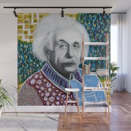 Einstein Painting Wall Mural