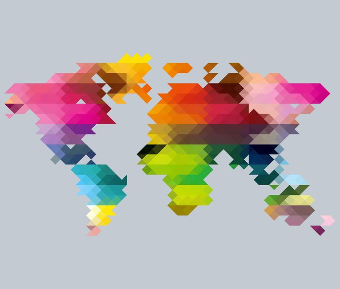 Geo World Map Metal Travel Mug