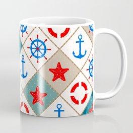 Nautical pattern . 1 Coffee Mug