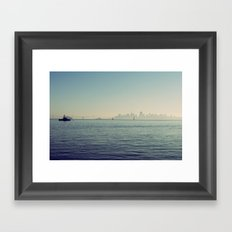 Sitting on the Dock of the Bay Framed Art Print