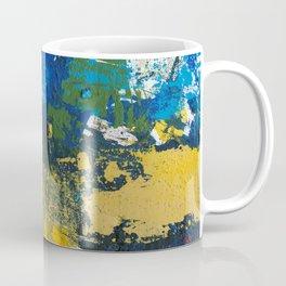Lucas Abstract Painting Blue Black Yellow Coffee Mug