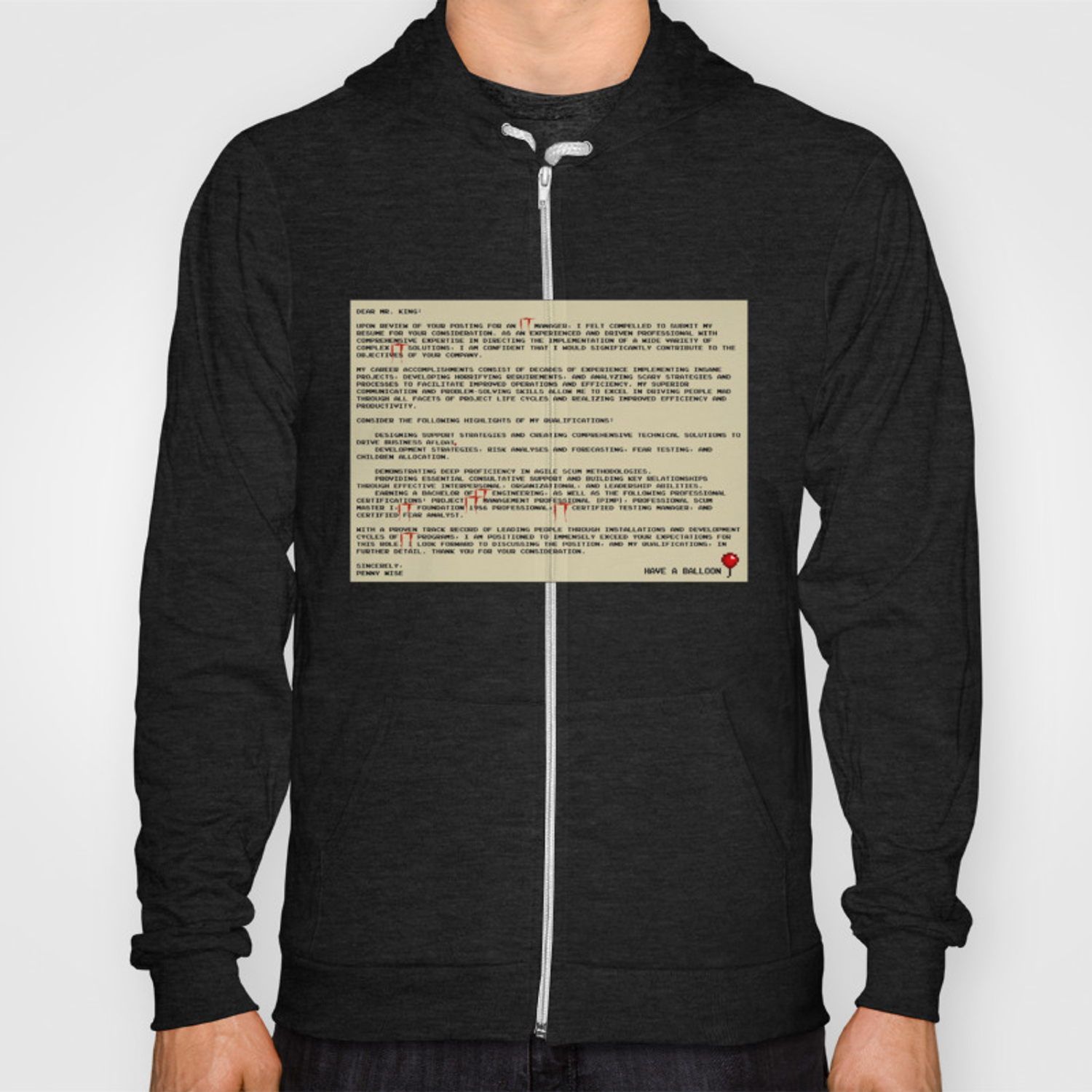 IT Manager Cover Letter Hoody by spikes300
