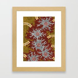 Authentic Aboriginal Art - Bushland Dreaming Framed Art Print