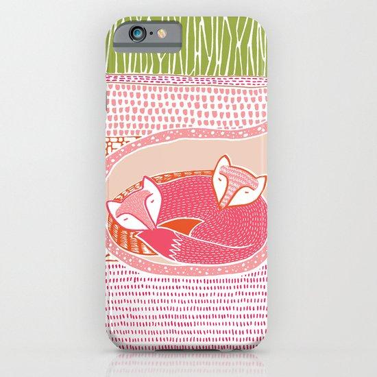 Sleepy Happy Foxes iPhone & iPod Case