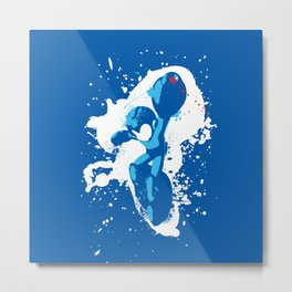 Mega Man Splattery Design Metal Print