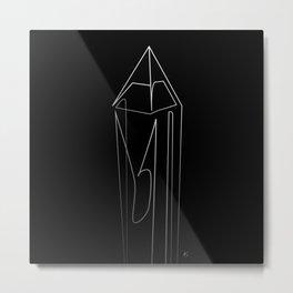 """ Abstract Collection "" - Crystal #1 Metal Print"
