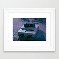 super mario Framed Art Prints featuring Super Mario by Danielle Manuel
