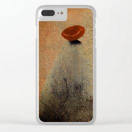 Señora con Sombrero y Abrigo Clear iPhone Case