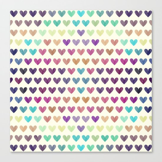 Colorful hearts III Canvas Print