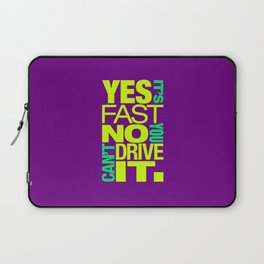 Yes it's fast No you can't drive it v7 HQvector Laptop Sleeve