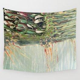 Green Algae - Mixed Media Ceramic Pebeo Glass Beads Abstract Modern Fine Art, 2015  Wall Tapestry