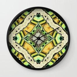 Golden Kaleidoscope Wall Clock