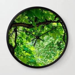 Peek into the Summer Trees Wall Clock