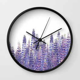 Just Lupine Wall Clock