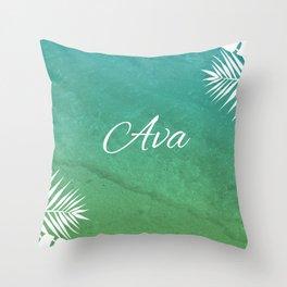 Tropical Ava Throw Pillow