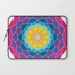 floral ornament. circular pattern Laptop Sleeve