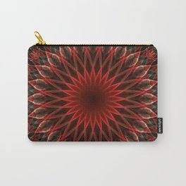 Leaves ornamented mandala Carry-All Pouch