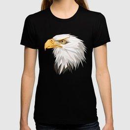 Triangular Geometric American Bald Eagle Head T-shirt